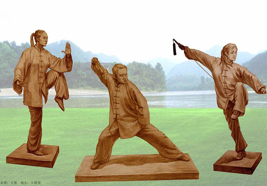 太极雕塑设计