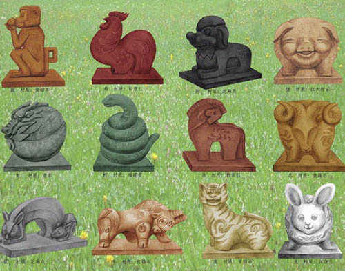 十二生肖雕塑设计
