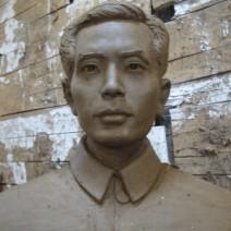 抗战英雄黄飞鸿雕塑