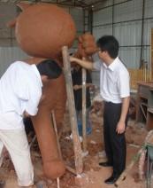 广州迎亚运五羊雕塑工程案例