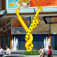 风情食街雕塑设计