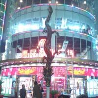 广州雕塑公司惠民广场水景雕塑